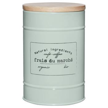 Metal and Wood Coffee Jar
