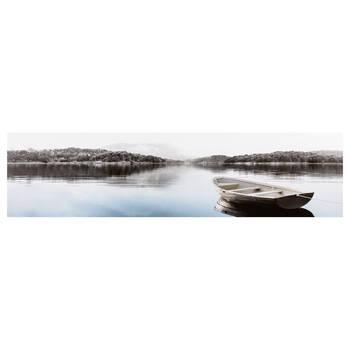 Boat and Lake Printed Canvas