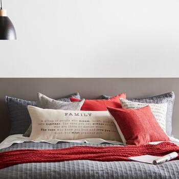 """Family Decorative Lumbar Pillow 15"""" X 33"""""""