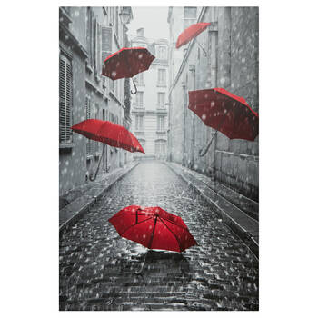 Tableau imprimé parapluies flottants
