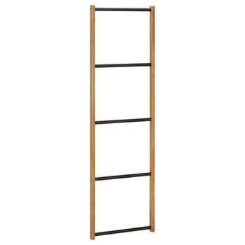 Wood and Metal Ladder Towel Holder