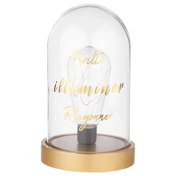 Dôme de verre avec lumière DEL