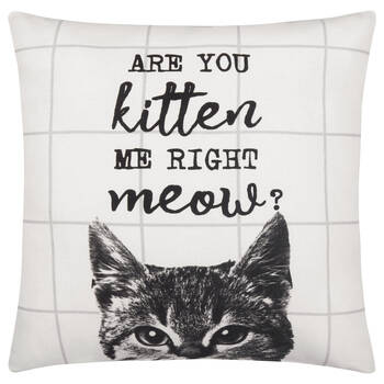 "Meow Decorative Pillow Cover 18"" X 18"""