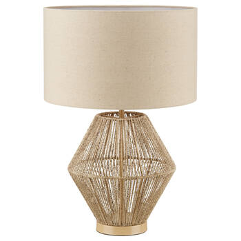 Hemp Rope and Linen Table Lamp