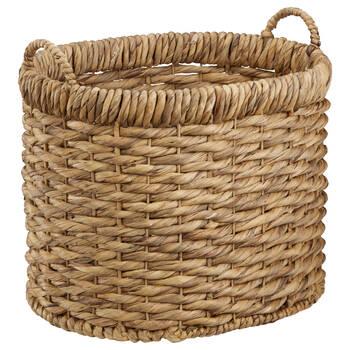 Natural Fibre Oval Storage Basket