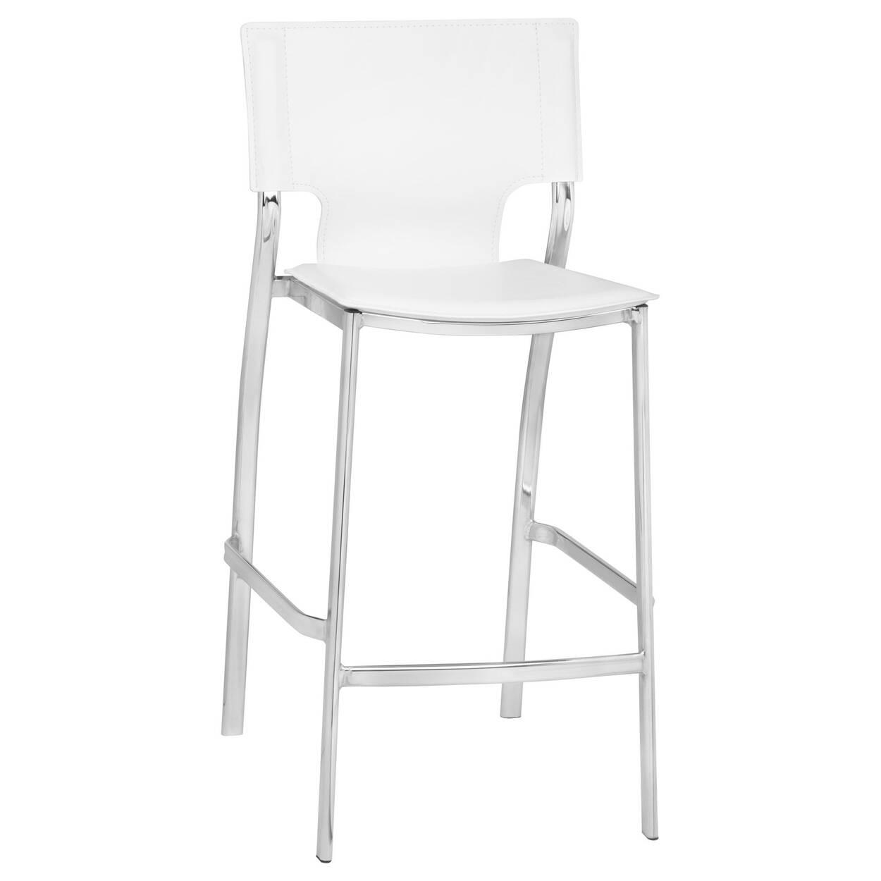 Sensational Faux Leather And Metal Bar Stool Gmtry Best Dining Table And Chair Ideas Images Gmtryco