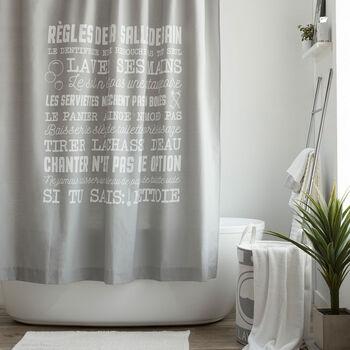Règles Shower Curtain
