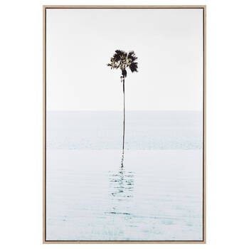 Lonely Palm Tree Framed Art