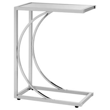 Mirror and Chrome Side Table