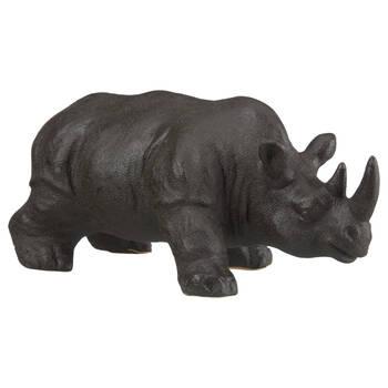 Rhinocéros décoratif en grès noir