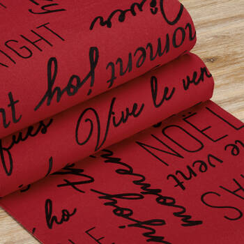 Table Runner With Typograhy