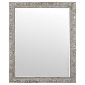 Whitewashed Frame Mirror