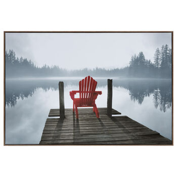 Red Chair Framed Art