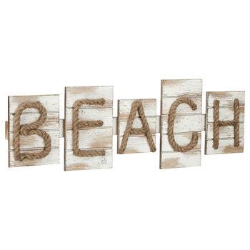 Beach Wood and Rope Wall Art