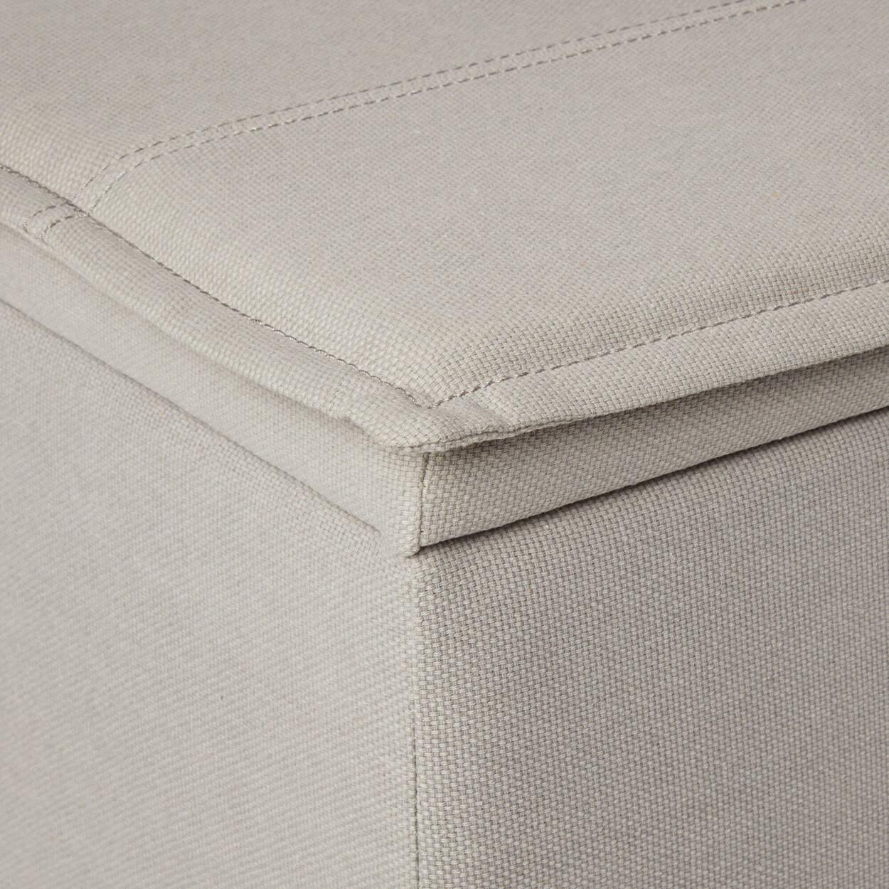 Fabric Storage Bench