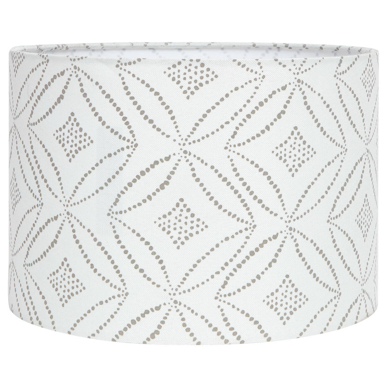 Round Patterned Linen Lamp Shade