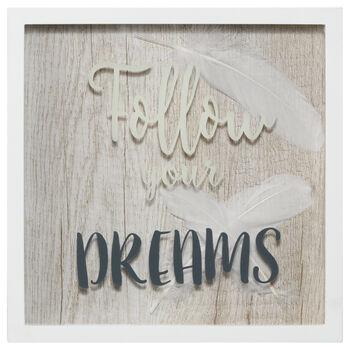 Follow Your Dreams Wall Shadow Box