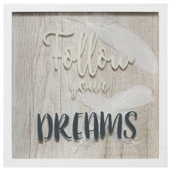 Follow Your Dreams Wall Shadow Box