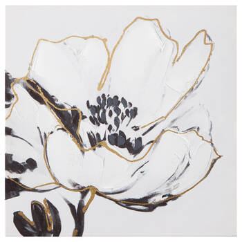Floral Printed Canvas with Gel Embellishments