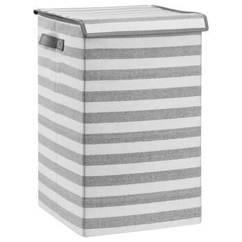 Striped Foldable Hamper