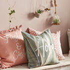 "Siesta Decorative Pillow Cover with Pom-Poms 18"" X 18"""