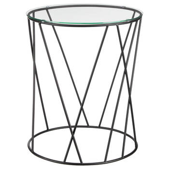Metal Wire and Glass Side Table