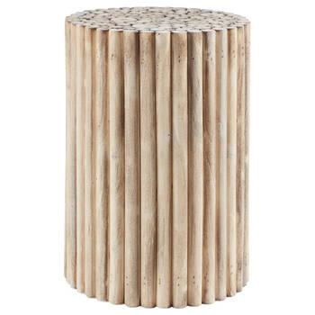 Table d'appoint en bois de peuplier