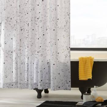 Rideau de douche en imprimé Terrazzo