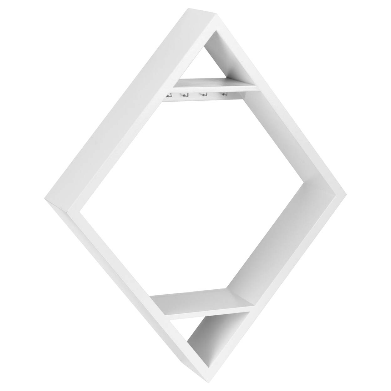 Diamond Shaped Wall Shelf