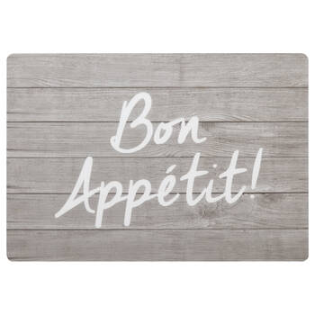 Set of 4 Bon Appétit PVC Placemats