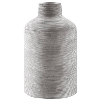 Scratched Cement Table Vase