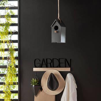 Modern Black Iron Birdhouse