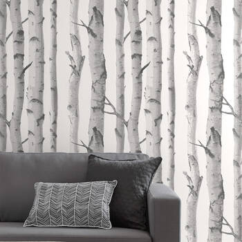 Birch Trees Wallpaper - Double roll
