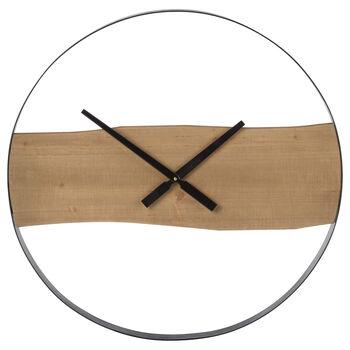 Minimalist Wood & Metal Wall Clock