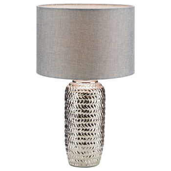 Ceramic and Fabric Table Lamp