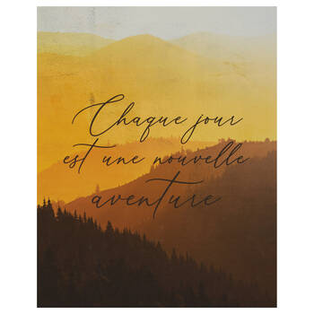 Printed Canvas with Typography Chaque Jour