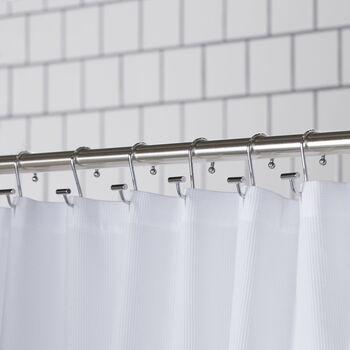 Ensemble de 12 crochets pour rideau de douche en chrome