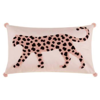"""Coussin lombaire décoratif léopard bouclé Koury 13"""" x 22"""""""