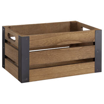 Wood and Metal Crate