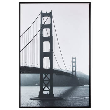 Black and White Bridge Framed Art