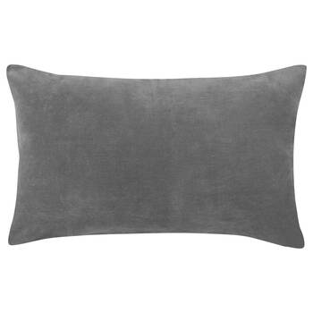 "Tajan Embroidered Velvet Decorative Lumbar Pillow 13"" X 20"""