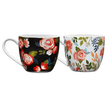 Set of 2 Flower Mugs