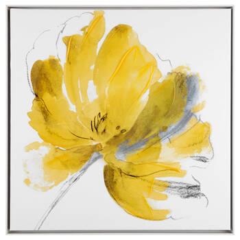 Gel Embellished Floral Framed Canvas | Bouclair.com