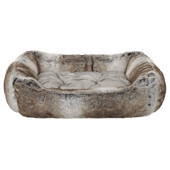 Wolf Faux Fur Pet Bed