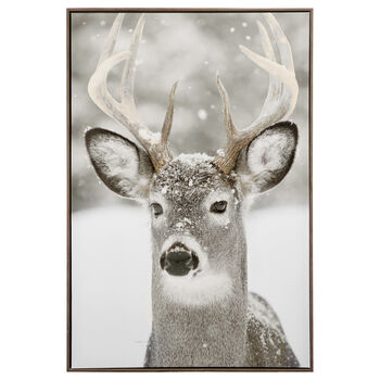 Cadre imprimé cerf de Virginie