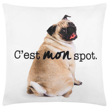 "C'est Mon Spot Decorative Pillow Cover 18"" X 18"""