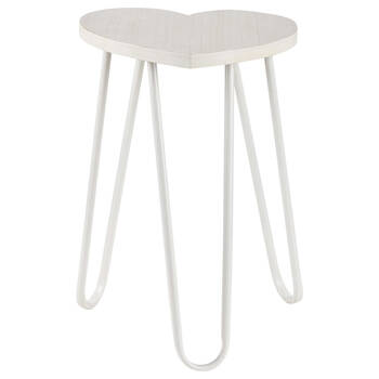 Heart Wood Stool with Metal Legs