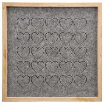 Hearts Felt Memo Board