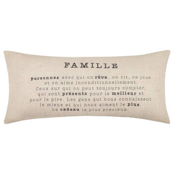 "Famille Decorative Lumbar Pillow 15"" X 33"""