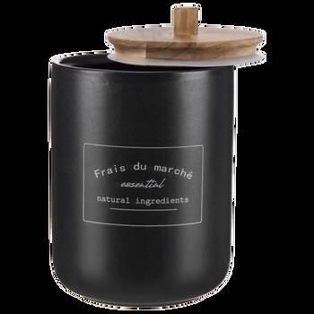 Airtight Black Ceramic Coffee Jar